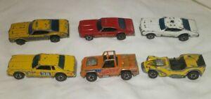6 Hot Wheels Redline Junkyard Lot 1974-1977 Maxi Taxi Fire Chief Police Cruiser