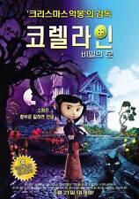 CORALINE Movie POSTER 27x40 Korean Dakota Fanning Ian McShane Teri Hatcher Keith