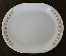 "Corelle by Corning USA Butterfly Gold 12 1/4"" x10"" Serving Platter"