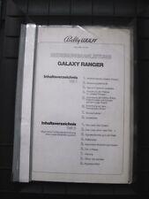 Galaxy Ranger Bally Wulff Bedienungsanleitung
