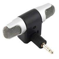 Portable Mini Digital Stereo Mikrofon Mic 3.5mm Microphone Recorder für Handy PC