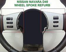 NISSAN NAVARA D40 / R51 (2004-2014) 8(b) BUTTON STEERING WHEEL TRIMS - SILVER
