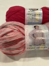 New ListingNew Yarn : Yarn Bee Sweet Delight, Dk Wt Acrylic Blend, Lot Of 2 Coordinating