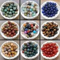 100pcs Wholesale Natural Gemstone Round Spacer Loose Beads Lots 8mm 10mm