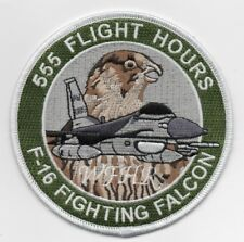 """USAF Patch 555th FIGHTER SQ, 555th FLIGHT HOURS LOGGED, Morale patch 4"""" Diameter"""