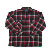 Vintage Plaid Pendleton 100% Wool Classic Flannel Long Sleeve Button-Up Shirt