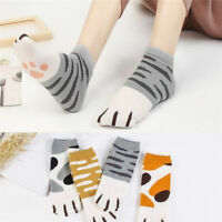 Lovely Girls Summer Winter Cartoon Cats Paw Kitty Claws Ankle Short Soft Socks