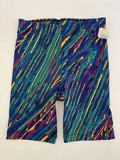 Vintage Body Shaper 80's Bike Dance Shorts Graffiti Print by DANSKIN sz Medium
