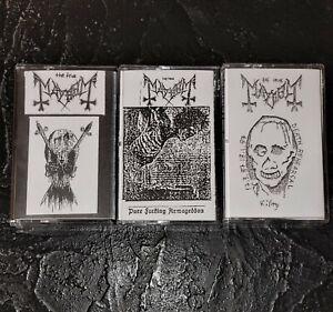 *RARE* Mayhem Demo Tapes Watain, 1Burzum, Emperor, Darkthrone, Black Metal