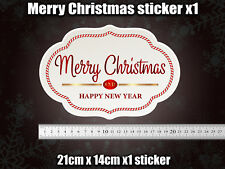 MERRY FUxxING CHRISTMAS Sticker Funny Novelty Decoration RUDE tinsel car van
