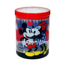 MINNIE MOUSE 100 Cotton Buds Swabs PLASTIC CONTAINER Vintage Mickey Kiss BLUE