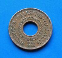 Israel Palestine British Mandate 5 Mils 1944 Coin XF