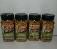 New ! 4 X  7.75 oz Weber Roasted Garlic and Herb Seasoning