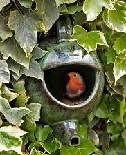 Green Ceramic Robin Teapot Nester: Garden