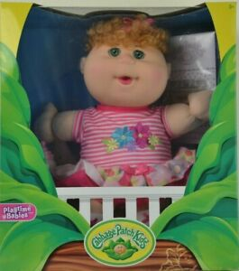 Original 32cm Cabbage Patch Kids Doll Baby Curly Red Hair Girls Toys MAY 28th