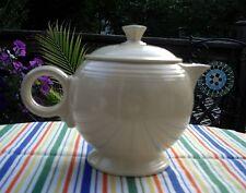 Vintage Fiesta IVORY LARGE Tea pot w/ Lid ~