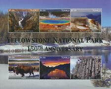 More details for tuvalu 2021 mnh landscapes stamps yellowstone national park mountains 6v m/s