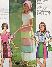 Vtg Simplicity 9830 Sew Pattern Easy Small Skirt Upcycle Hippie T-Shirt Bonnet