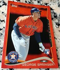 GEORGE SPRINGER 2014 Topps RED SP Rookie Card RC Logo HOT Houston Astros HR $$$