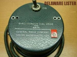 General Radio Type 908-P2 Synchronous Dial Drive used w/1210-C R-C Oscillator
