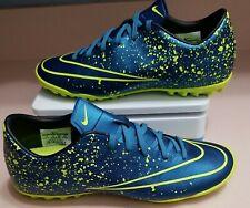 New listing Nike Mercurial Victory V TF Squad Men's Size 7 Blue/Volt Soccer Shoes 651646-440