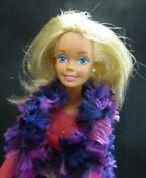Barbie Original doll blonde hair cord jeans black boots bodysuit fury vest