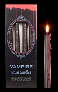 Tropfkerzen reversibel 4er Set - Vampir Tränen - Fantasy Gothic Wachskerze Deko