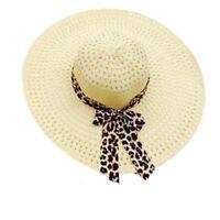 Summer Fold Sun Derby Straw Hat Cap Lady Floppy Wide Brim Beach Hat Women NR7Z