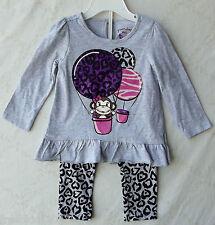 Greendog Baby Girls Grey 2PC (Separates) Legging/Ruffle Top 18 Months NWT G82471