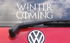 """8"""" Winter Is Coming Vinyl Decal/Sticker Game of Thrones car macbook ipad TV"""