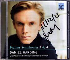Daniel HARDING Signiert BRAHMS Symphony No.3 & 4 CD Deutsche Kammerphilharmonie