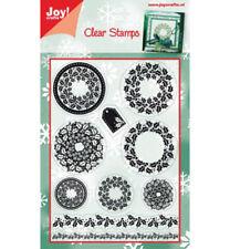 Sello de Alegría! artesanía Claro Navidad Coronas & fronteras 10 Sellos - 6410/0110