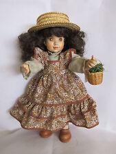 "Anri Sarah Kay ""SARAH"" Hand Carved Wood & Painted Hinged Doll Italy #504/750 KH"