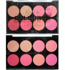 Technic Colour Fix BLUSHER Palette Set Kit Hot Pink Red Coral Peach Bronze Dusky