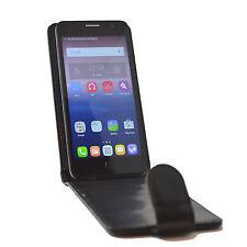 Schwarz Flip Schutz Hülle Tasche Case Handytasche für Gigaset GS 160