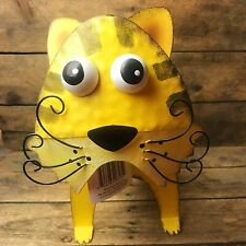 Tin Yellow Tiger Figure with Wiggle Head