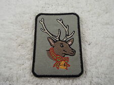 """REINDEER 4"""" Embroidery Iron-on Applique Custom Patch (E3)"""