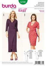BURDA SEWING PATTERN Misses' Wrap Dress with Kimono Sleeves SIZES 10 - 20 6730