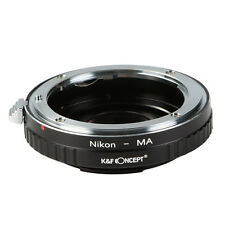 Lens Adapter for Nikon AI F Lens to Sony Alpha Minolta AF MA + Corrective Glass