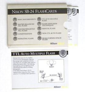 Nikon SB-24 FlashCards: Set of 10 Flash Cards Original