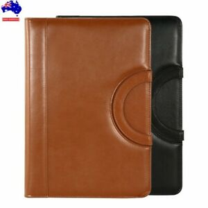 A4 Business Folder Card Folio Organiser Portfolio PU Leather iPad Case Holder AU