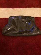 Lk Bennett Grey Patent Clutch Bag