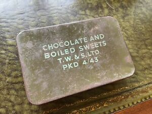 WW2 Chocolate And Boiled Sweets Ration Tin