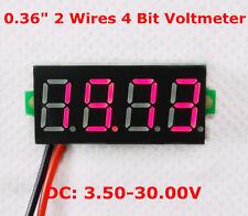 numérique voltmètre 4 chiffres 2 fils tension Panel Meter affichage LED couleur
