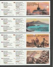 1998 Tourists stamp 'Cartolina' booklets Zmst MH2-5 (carnets Suisse Schweiz)