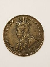 1925 Australian Penny coin 2nd rarest australian penny genuine