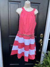 NWT elizia J Dress Size 16 Boho Retro Belt New 118