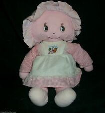 "12"" VINTAGE 1981 ETONE PINK STRAWBERRY SHORTCAKE DOLL STUFFED ANIMAL PLUSH TOY"