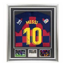 Signed Lionel Messi FC Barcelona 2020 Shirt Framed Display - Deluxe Design