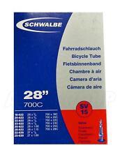 """Schwalbe Sv15 Presta (40mm) Cámara - 28"""" 700c - de aire (18-622 to 25-630)"""